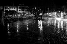 photo noir et blanc du quai du steir à quimper